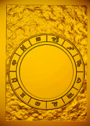 Fortune Telling Prints - Computer Illustration Of A Zodiac Or Star Chart Print by Victor Habbick Visions