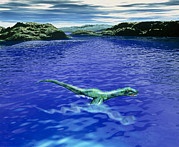 Monster Photos - Computer Illustration Of The Loch Ness Monster by Victor Habbick Visions