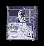 Processor Prints - Computer, Simulated X-ray Print by Mark Sykes