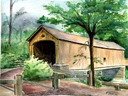 Comstock Bridge Print by Katherine  Berlin