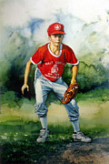 Baseball Art Painting Framed Prints - Concentration Framed Print by Hanne Lore Koehler