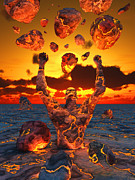 Anger Digital Art Metal Prints - Conceptual Image Based On The Biblical Metal Print by Mark Stevenson