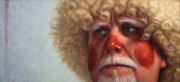Clown Paintings - Concerned by James W Johnson