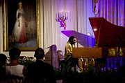 Michelle Obama Prints - Concert Pianist Awadagin Pratt Performs Print by Everett