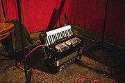 Live Music Metal Prints - Concertina On The Floor Metal Print by Eddy Joaquim