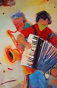 Band Painting Originals - Concerts in the Park by Anne Schreivogl