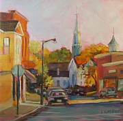 Concord Massachusetts Painting Posters - Concord Afternoon Poster by Laurie G Miller