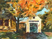 Concord Massachusetts Paintings - Concord Fall Scene by Claire Gagnon