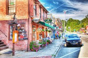 Concord Massachusetts Posters - Concord Main Street Poster by Mark Stewart