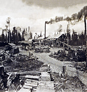Concord New Hampshire - Logging Camp - C 1925 Print by International  Images