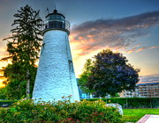 Concord Point Metal Prints - Concord Point Lighthouse 2 Metal Print by Debbi Granruth