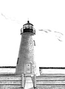 Lighthouse Drawings - Concord Point Lighthouse by William Howard