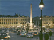 Place De La Concorde Posters - Concorde at Night Poster by Hans Mauli