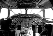 Airways Photo Framed Prints - Concorde cockpit Framed Print by Patrick  Flynn