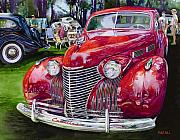 Forties Painting Posters - Concours Cadillac Poster by Mike Hill