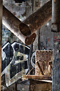 Decay Digital Art Prints - Concrete Central 8 Print by Chuck Alaimo