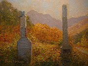 Terry Perham Art - Concrete Tombstones by Terry Perham