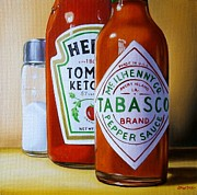 Ketchup Paintings - Condiments by Jean Pierre Walter