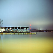 Maryland Photos - Condos At Night by Daniel Regner