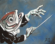 Conductor Prints - Conductor Fish Print by Ellen Marcus