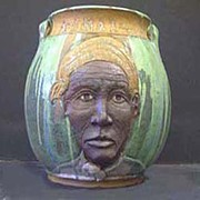 American Pottery Ceramics - Conductor Harriet Tubman by David Mack