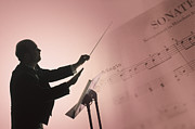 Music Stand Photos - Conductor With Sheet Music by Comstock