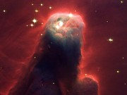 Cloud Dust Posters - Cone Nebula Ngc 2264 Poster by Nasaesastscih.ford, Jhu