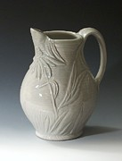 Monochrome Ceramics - Coneflower Pitcher by Patty Sheppard
