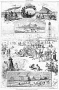 Clam Chowder Framed Prints - Coney Island, 1878 Framed Print by Granger