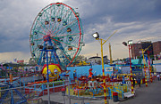 Amusements Prints - Coney Island Amusements Print by Rich Walter