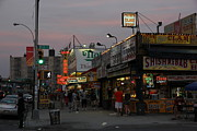 Hot Dogs Art - Coney Island at Dusk by Robert Sutton