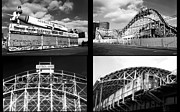 Train Pictures Prints - Coney Island Collage Print by John Rizzuto