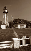 York Beach Prints - Coney Island Lighthouse Print by Skip Willits