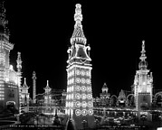 Luna Art - Coney Island, Luna Park At Night. New by Everett