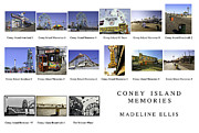 Coney Island Framed Prints - Coney Island Montage Framed Print by Madeline Ellis