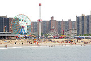York Beach Framed Prints - Coney Island, New York Framed Print by Ryan McVay