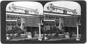 Tillie Prints - Coney Island, Stereo Photograph Print by Everett