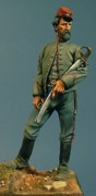 Military Sculptures - Confederate Artillery by Ludovico Carrano