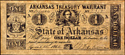 Arkansas Metal Prints - Confederate Banknote Metal Print by Granger