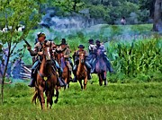Cavalry Digital Art - Confederate Cavalry Charge by Tommy Anderson
