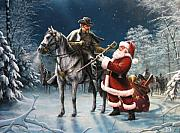 Santa Metal Prints - Confederate Christmas Metal Print by Dan  Nance