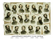 Civil Mixed Media Prints - Confederate Commanders of The Civil War Print by War Is Hell Store