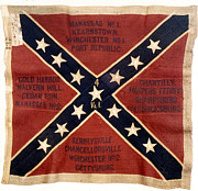 Confederate Flag Photo Posters - Confederate Flag, 1863 Poster by Granger
