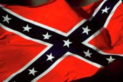 Confederate Flag Print by Phill Petrovic