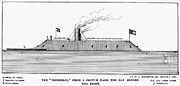 Ironclad Prints - Confederate Ironclad, 1862 Print by Granger