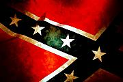 Confederate Flag Digital Art Prints - Confederate Patriot Flag Print by Phill Petrovic