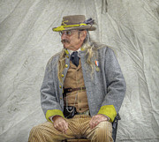 Regiment Digital Art - Confederate Veteran Portrait by Randy Steele