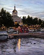 Kingston City Hall Prints - Confederation Park Print by Richard De Wolfe