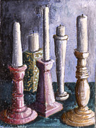 Diversity Paintings - Conference of Candles by Susan  Brasch
