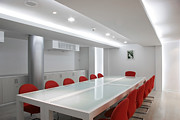 Office Space Prints - Conference Room Interior Print by Setsiri Silapasuwanchai
